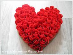 Z dala od miasta: Walentynkowe serce z papieru