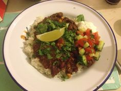 A vibrant, hearty chili con carne. Who says man-food has to be brown?