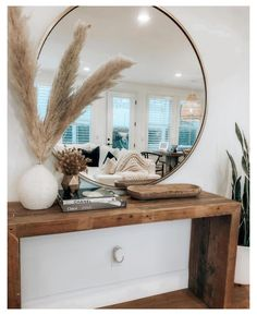 Boho home style console table #entryway #table #decor #boho #entrywaytabledecorboho Console Table Styling, Entryway Console Table, Console Table Living Room, Entryway Table Modern, Modern Entry, Modern Console Tables, Entryway Ideas, Home Living Room, Living Room Decor