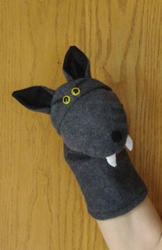 how to make a wolf sock puppet