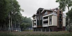 Жилой дом средней этажности - Галерея 3ddd.ru