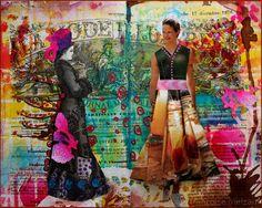 couleurs et mixed media: Art-Journal 2015 - Semaine 10 avec la Mode Illustrée