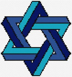 Cross Stitch | Star of David xstitch Chart | Design