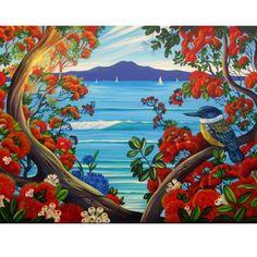Nz Art, Kiwiana, Framed Prints, Canvas Prints, Gustav Klimt, Contemporary Artists, New Zealand, Flower Art, Illustration Art
