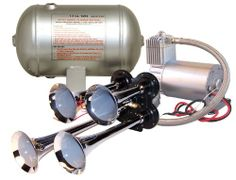 #Quad Air Horn Kit Complete w/ 150 PSI Air System $239.95