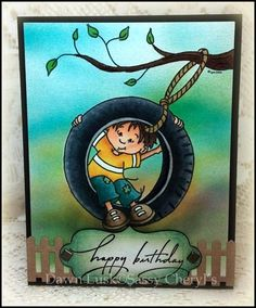 Sassy Cheryl's, Noah's Tire Swing  Airbrushed background