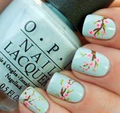 Friendly Nail Art Community with Nail Art Picture and Video Tutorials. Make your nails look awesome and share your nail art designs! Cute Nail Art, Cute Nails, Pretty Nails, My Nails, Flower Nail Designs, Cute Nail Designs, Spring Nail Art, Spring Nails, Winter Nails