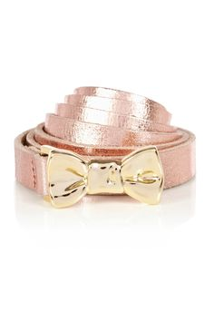 gold bow belt