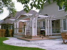 creative raised decks | gardenstructure com