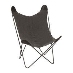 Vlinderstoel - grijs | Xenos