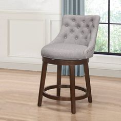 Three Posts™ Papillion Swivel Bar & Counter Stool & Reviews   Wayfair Stools For Kitchen Island, Counter Height Bar Stools, Swivel Bar Stools, Bar Counter, Kitchen Islands, Dining Furniture, Dining Chairs, Bar Stools With Backs, Foot Rest
