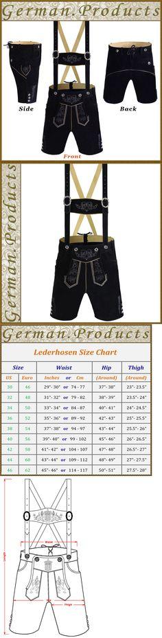 Lederhosen 163144: Authentic German Bavarian Trachten Oktoberfest Black Short Kurze Lerderhosen Gp3 -> BUY IT NOW ONLY: $66.5 on eBay!
