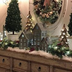 Sharing my night view of the snowy winter village I created in my entry. I love Christmas lights late at night when the house is quiet. Sleep well my friends! Noel Christmas, Winter Christmas, Christmas Lights, Christmas Crafts, Christmas Mantels, Vintage Christmas, Victorian Christmas, Christmas Christmas, Simple Christmas