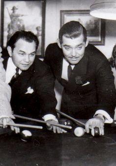 Edward G. Robinson and Clark Gable