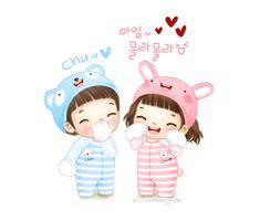 ⊙글귀이미지~♥ : 네이버 블로그 Korean Stickers, Korean Anime, Desk Calendars, Cute Crafts, Character Drawing, Cute Love, Cute Kids, Chibi, Hello Kitty