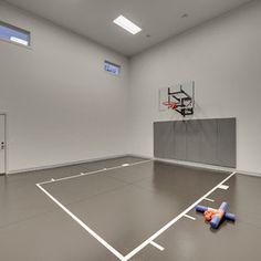 Basketball court ideas on pinterest indoor basketball for Basement sport court