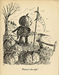 """josepheichstaedt:  A select plate from""""Over the Garden Wall; Hard Times at the Huskin' Bee."""" By Patrick McHale."""