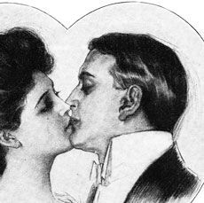 Gibson Girl Valentine Image – Kiss!