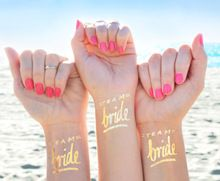 Gold Temporary Tattoo Set