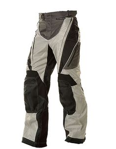 Xelement B4403 Mens Black/Silver Advanced Level-3 Tri-Tex Fabric Motorcycle Pants