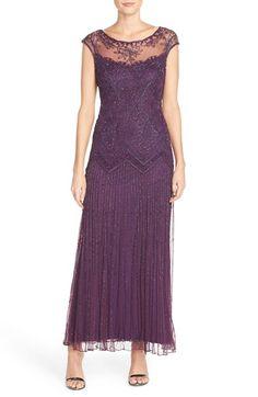 Pisarro Nights Illusion Beaded Mesh Dress (Regular & Petite) available at #Nordstrom