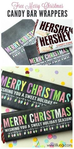 100 Days of Christmas – Day 69 - Visit Lil Luna to get a free printable Christmas Candy Bar Wrapper.