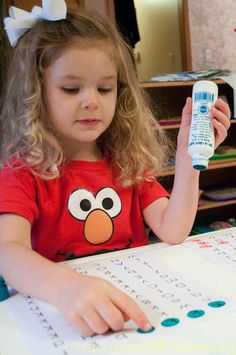 dot letter mazes.  great website for pre-k ideas. More advanced students can trace the letters with a colored marker
