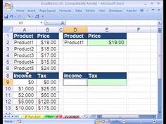 Excel Basics #23: VLOOKUP function formula - YouTube