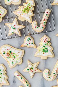 Decorating sugar cookies with kids is just about as much fun as. Decorating sugar cookies with kids is just about as much fun as you can have in the kitchen and this version is really easy to make and even yummier to eat. Sugar Cookies Recipe, Fun Cookies, Holiday Cookies, Holiday Treats, Christmas Treats, Holiday Recipes, Cookie Recipes, Recipes Dinner, Pasta Recipes