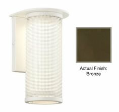Troy Lighting Hive - One Light Outdoor Medium Wall Sconce, Choose Finish: Coast: Coastal(Oxidized Finish Outdoor Wall Sconce, Outdoor Wall Lighting, Troy Lighting, Media Wall, Metal Mesh, One Light, Wall Sconces, Coastal, Satin