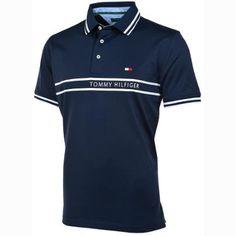 Tommy Hilfiger Tournament Mens Golf Shirt Midnight