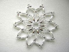 Perlenstern weiß/silber, Nr.9 - 8 cm