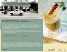 Arroz con leche recipe...wow look what I Found here...yummo..!