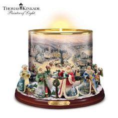 Thomas Kinkade Heirloom Porcelain Candleholder