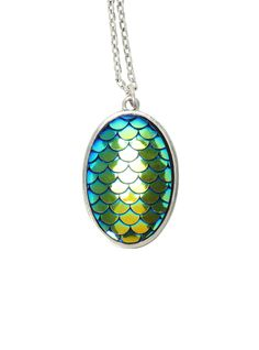 LOVEsick Green Iridescent Dragon Egg Necklace | Hot Topic