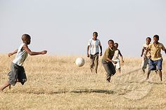 I would love to play barefoot with those kids, give back and share what I have with them... Water.org