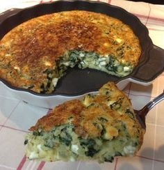 Torta de espinafre e queijo branco sem glúten (receita de liquidificador)
