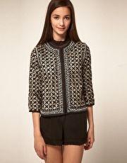 Manoush Embroidered Swing Jacket With Embellished Trim  www.asos.com