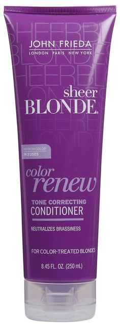 Calling all Blondes. Purple shampoo! Takes the brassiness out of your hair! Getting this soon!
