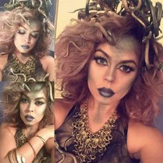 A medusa costume is the perfect way to accentuate your wild curly hair this Halloween! Check out these 10 amazing curly hair Halloween costume ideas! Curly Hair Headband, Curly Hair Tips, Short Curly Hair, Headband Hairstyles, Curly Hair Styles, Natural Hair Styles, Medusa Halloween, Medusa Costume, Hot Halloween Costumes