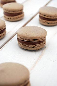 Chocolate Macarons with Whipped Nutella Ganache