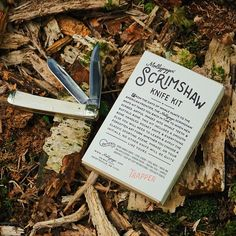 The scrimshaw knife kit. . Enclosed in this perfectly designed box is everything you need to create your very own piece of scrimshaw… American Frontier, Back In Time, Step By Step Instructions, Everything, Create Yourself, Initials, How To Apply, Kit, Wild West