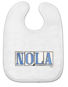 New Orleans Graphic Baby Bibs Nola Tiles  by BethDaiglePhotograph, $15.00