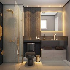 There's no better way to add a sophisticated touch to your bathroom than with a modern bathroom vanity. A modern bathroom vanity will make an ordinary house look classy and modern, thanks to how it impacts the look and feel of the bathroom. Bad Inspiration, Bathroom Inspiration, Bathroom Ideas, Bathroom Vanities, Bathroom Grey, Bathroom Cabinets, Bathroom Small, Bathroom Plans, Bath Ideas