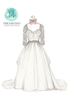 Personalized sketch of her wedding day. A gift to take her breath away. Her wedding dress sketched and framed. #weddingdresssketch #dreamlinesweddingdresssketch #dreamlinessketch #anniversarygift #weddinggift #bridegift #bridalshowergift Romantic Gifts For Wife, Best Gift For Wife, Wedding Shower Gifts, Wedding Gifts, Bridesmaid Tips, Wedding Dress Sketches, Bachelorette Ideas, Personalized Gifts For Her, Year Anniversary Gifts