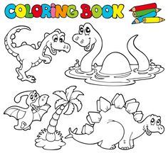 Its A Dinosaur Coloring Page For Kids This Is Just Perfect