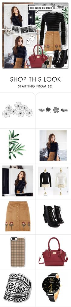 """""""Back To Beige // Rosegal"""" by angelstylee ❤ liked on Polyvore featuring WALL, chuu, Dorothy Perkins and Casetify"""