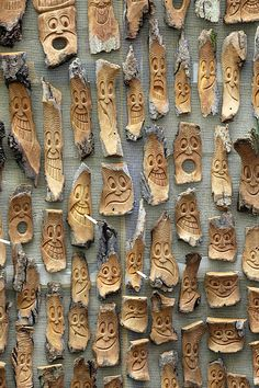 Wood faces - Carving - Funny