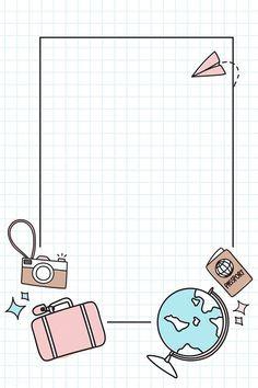 'Light Yellow Art School Subject Sticker Pack' Sticker by The-Goods Framed Wallpaper, Cute Wallpaper Backgrounds, Cute Wallpapers, Bullet Journal Art, Bullet Journal Ideas Pages, Bullet Journal Frames, Instagram Frame Template, Travel Doodles, Polaroid Frame