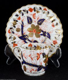 Spode Imari Coffee Cup Saucer with Rich Gilding (1875)